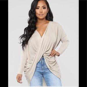 Fashion Nova Sammie high/low sweater